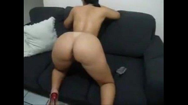Morena rabuda dando show no sexo nacional